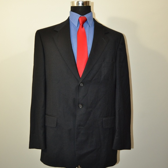 bill blass Other - Bill Blass 43L Sport Coat Blazer Suit Jacket Black